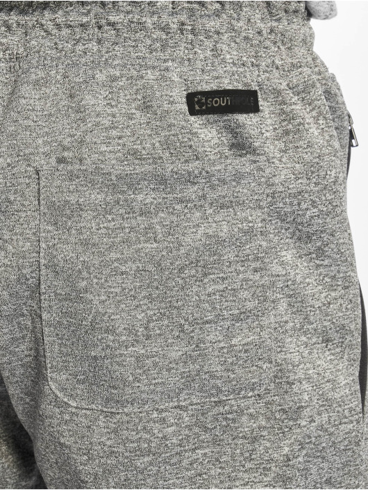Southpole Joggingbukser Zipper Pocket Marled Tech grå