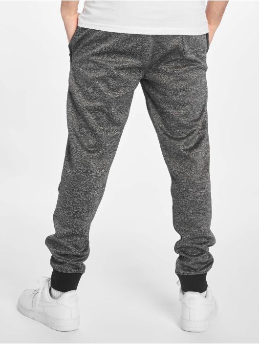 Southpole Joggingbukser Zipper Pocket Marled Tech sort
