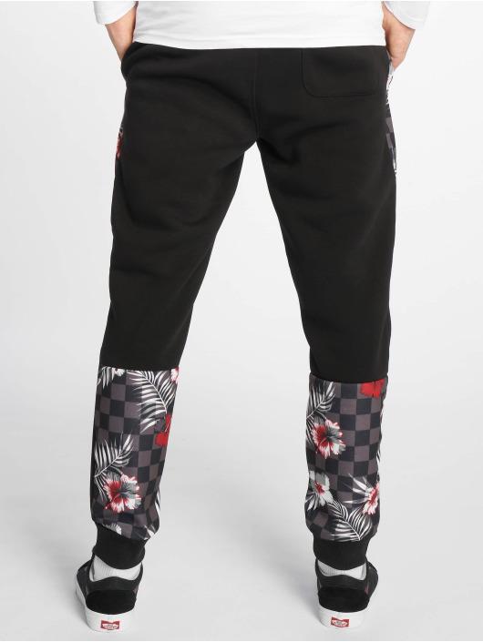 Southpole Jogginghose Floral schwarz