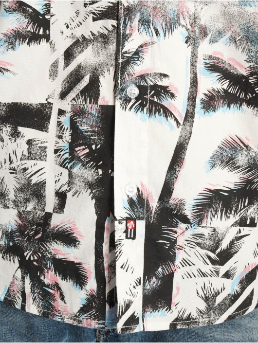 Southpole Koszule Palm Tree Box Print bialy