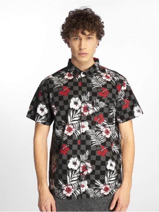 Southpole Koszule Flower & Checker Print czarny