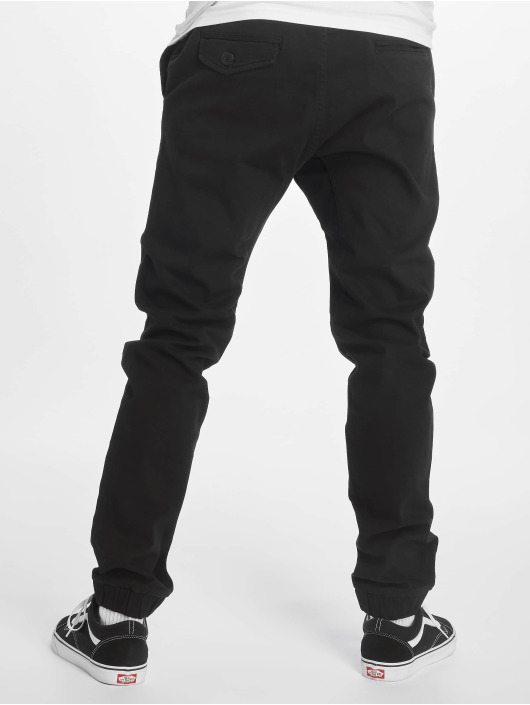 Southpole Látkové kalhoty Stretch čern