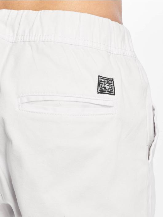Southpole Látkové kalhoty Stretch bílý