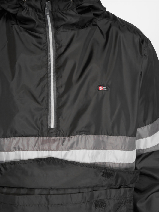 Southpole Lightweight Jacket Wind Series Color Stripe black