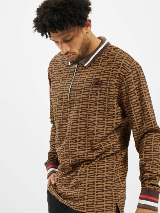 Southpole Longsleeve Logo All Over Print brown