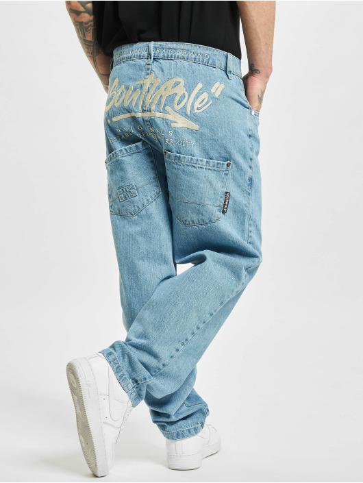 Southpole Loose Fit Jeans Script blau