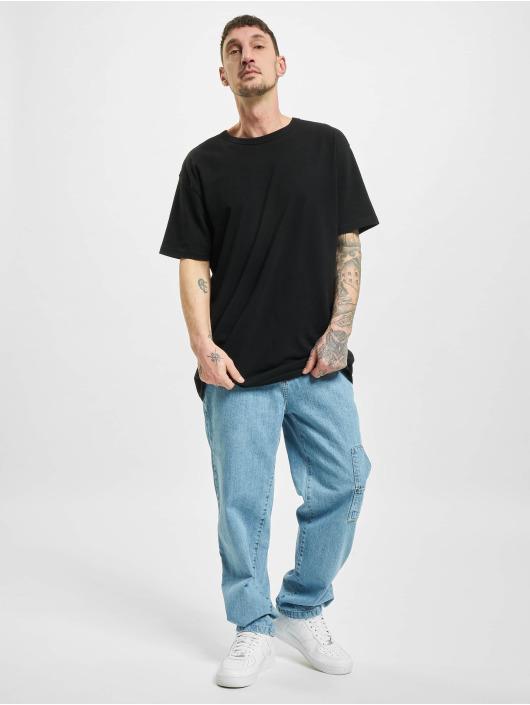 Southpole Loose fit jeans Script blauw