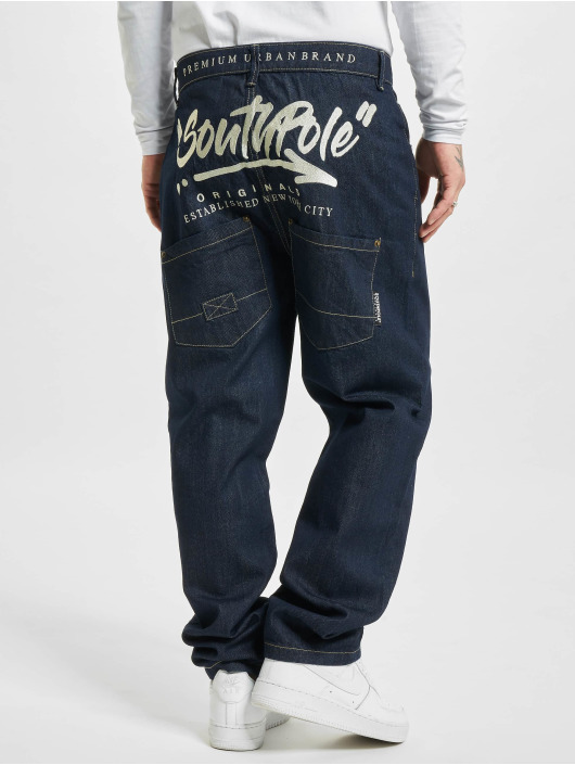 Southpole Loose Fit Jeans Script indygo
