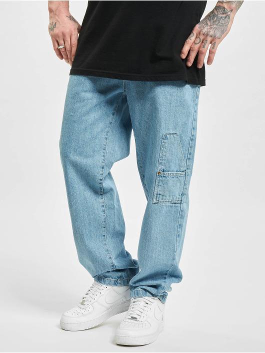 Southpole Loose Fit Jeans Script niebieski
