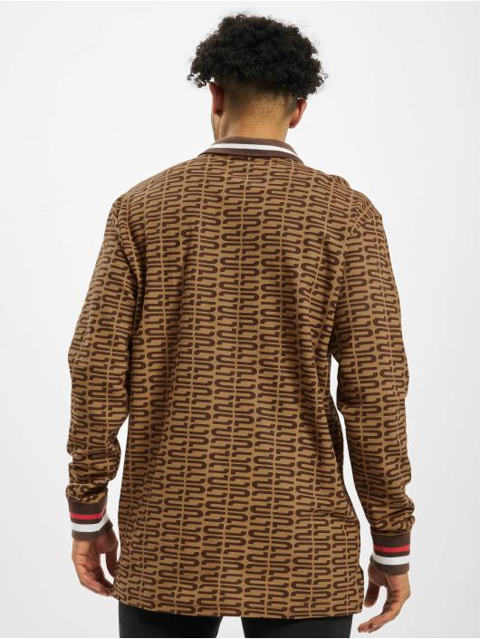 Southpole Maglietta a manica lunga Logo All Over Print marrone