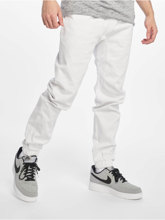 Southpole Pantalon chino Stretch blanc