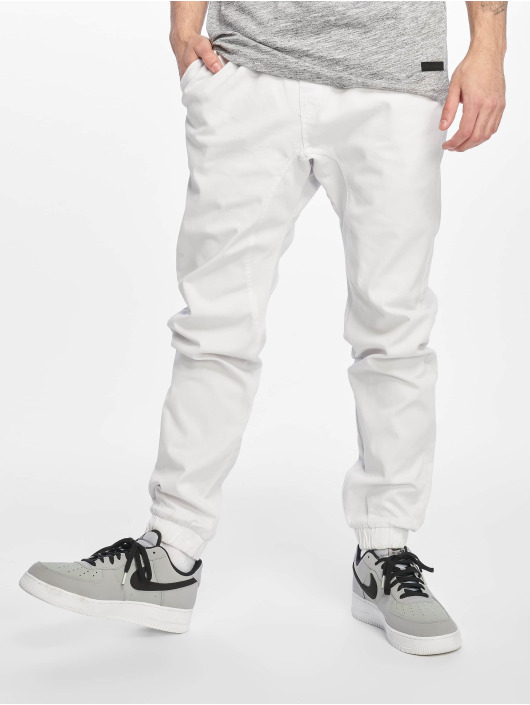 Southpole Pantalon chino Stretch blanc