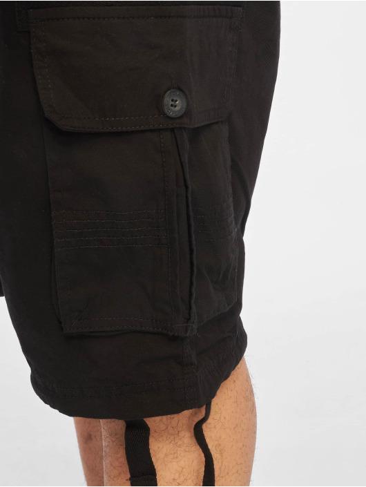 Southpole Pantalón cortos Jogger Cargo Fine Twill negro