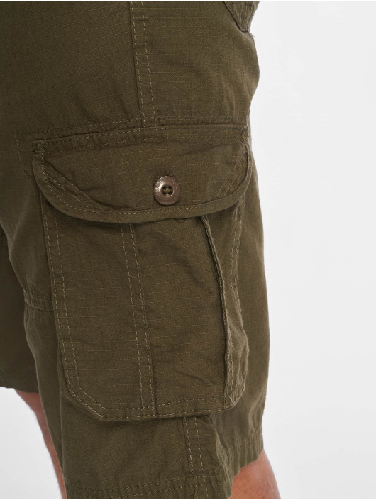 Southpole Pantalón cortos Belted Cargo Ripstop oliva