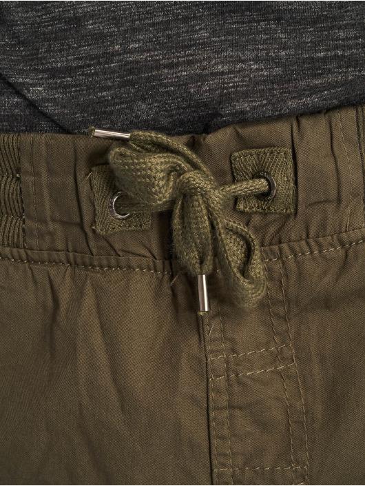 Southpole Pantalón cortos Jogger Cargo Fine Twill oliva