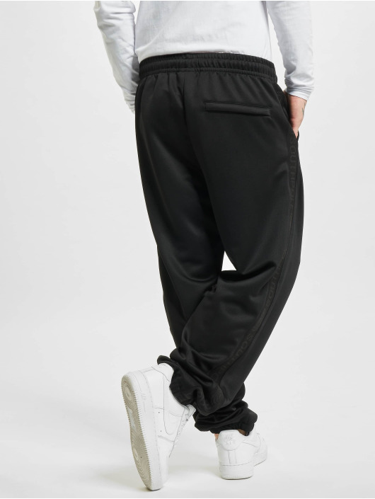 Southpole Pantalón deportivo Tricot With Tape negro