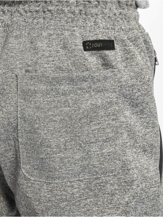 Southpole Pantalone ginnico Zipper Pocket Marled Tech grigio