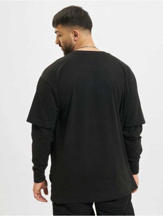 Southpole Pitkähihaiset paidat Basic Double Sleeve musta