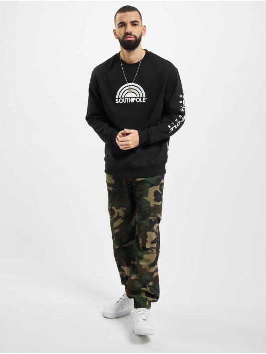 Southpole Pullover Halfmoon schwarz