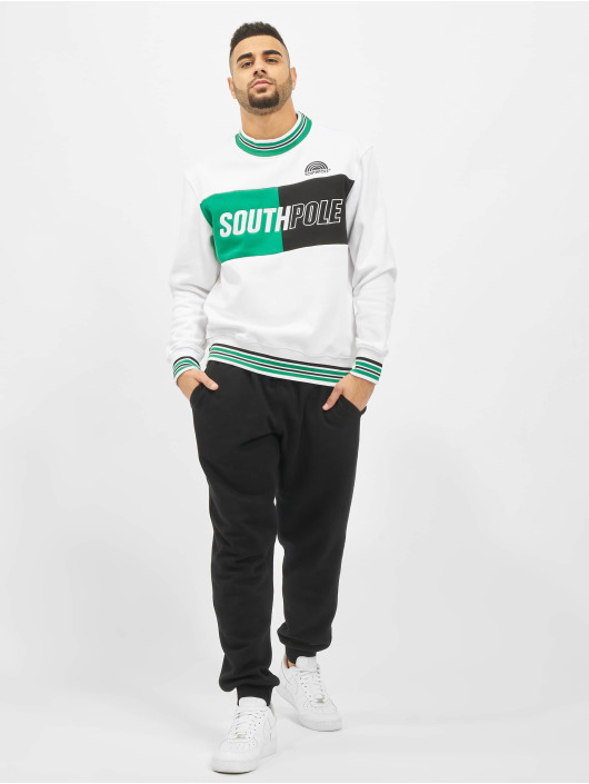 Southpole Pullover Block Logo weiß