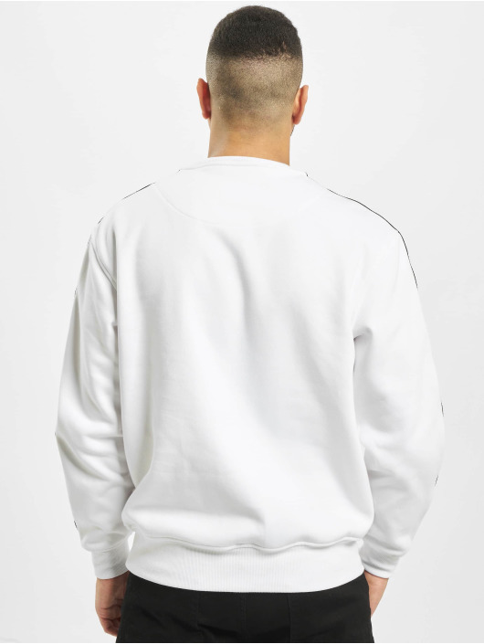 Southpole Pullover Logo Tape Crewneck white
