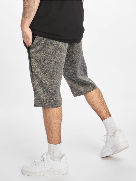 Southpole Shorts Zipper Pocket Marled Tech Fleece grå