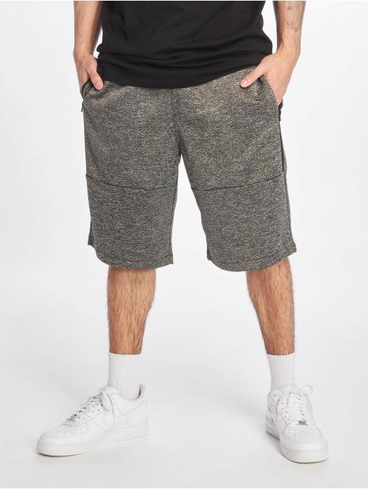 Southpole Shorts Zipper Pocket Marled Tech Fleece grau