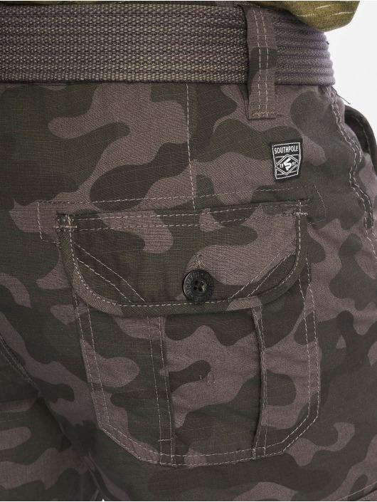 Southpole Shorts Belted grau