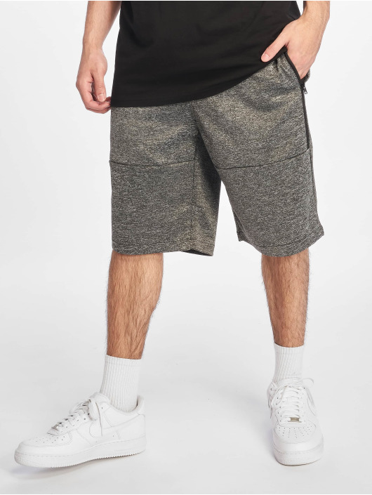 Southpole Shorts Zipper Pocket Marled Tech Fleece grigio