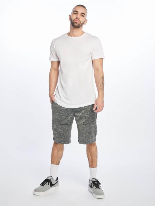 Southpole Shorts Zipper Pocket Marled Tech Fleece nero