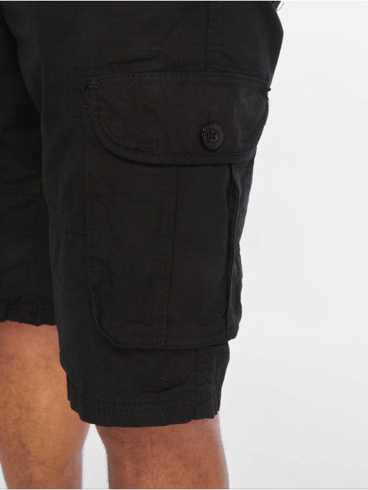 Southpole Shorts Belted Cargo Ripstop nero