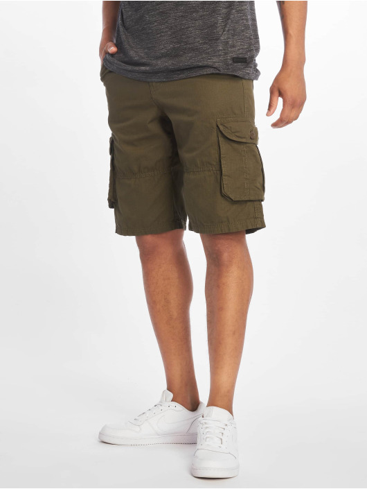 Southpole Shorts Belted Cargo Ripstop oliven
