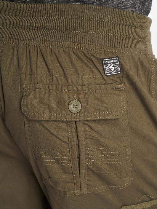 Southpole Shorts Jogger Cargo Fine Twill oliven