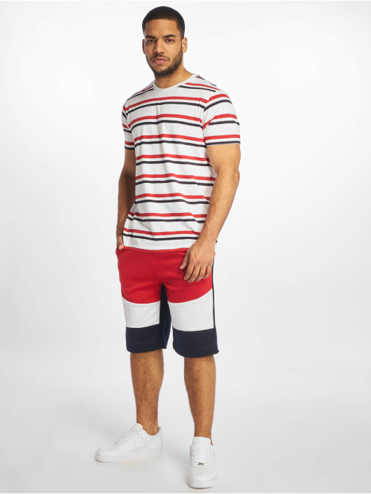 Southpole Shorts Color Block Tech Fleece röd