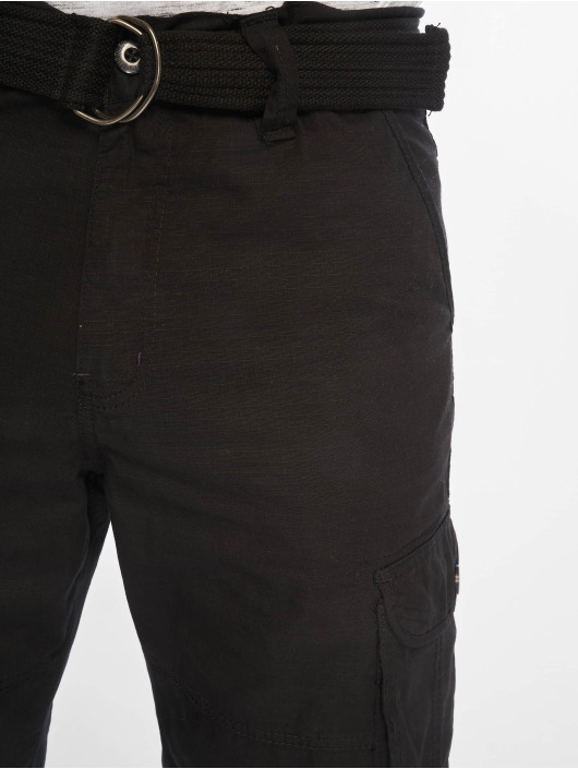 Southpole Shorts Belted Cargo Ripstop schwarz