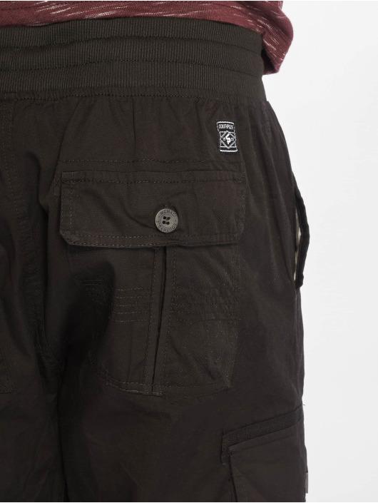 Southpole Shorts Jogger Cargo Fine Twill schwarz