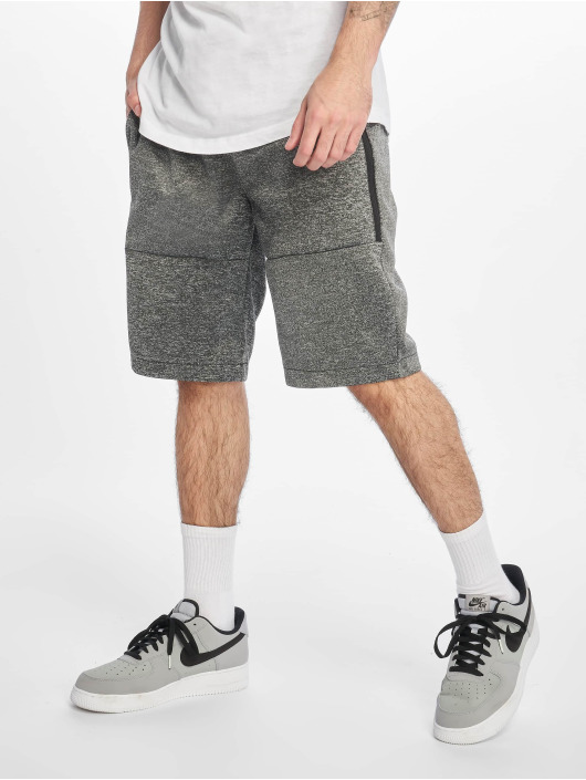 Southpole Shorts Zipper Pocket Marled Tech Fleece svart
