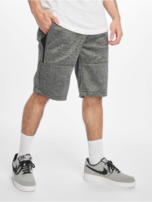 Southpole Shorts Zipper Pocket Marled Tech Fleece svart