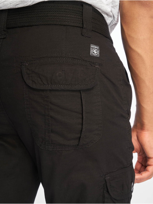 Southpole shorts Belted Cargo Ripstop zwart