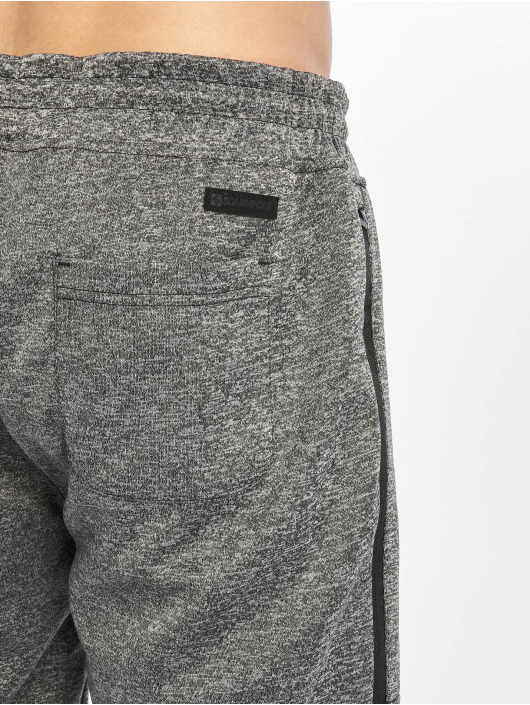 Southpole Shortsit Zipper Pocket Marled Tech Fleece musta