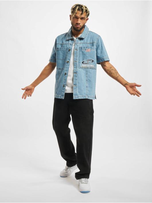 Southpole Skjorta Short blå