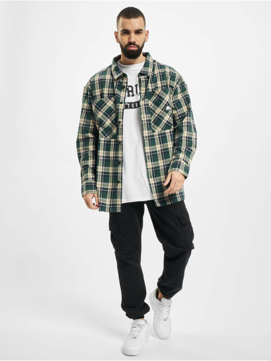 Southpole Skjorte Check grøn