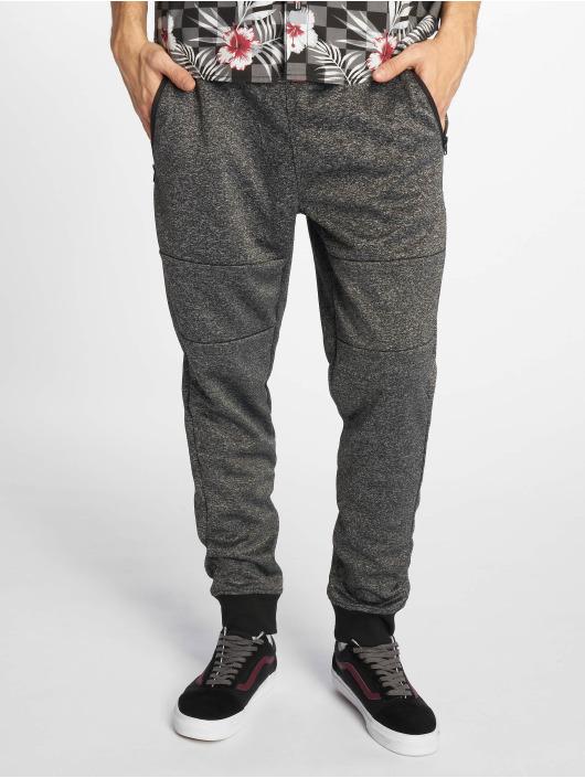Southpole Spodnie do joggingu Marled Tech Fleece czarny