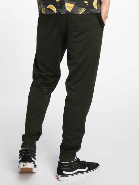 Southpole Spodnie do joggingu Marled Tech Fleece Pants oliwkowy