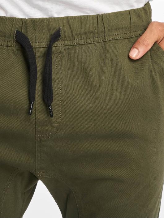 Southpole Spodnie wizytowe Stretch oliwkowy