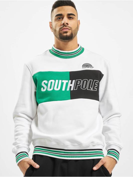 Southpole Sweat & Pull Block Logo blanc