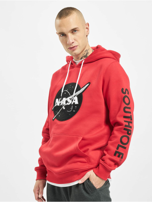 Southpole Sweat capuche Nasa Insignia Logo rouge