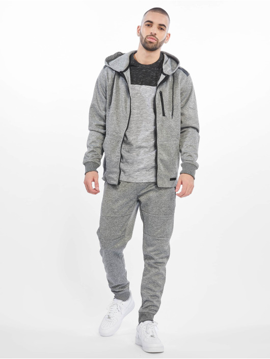 Southpole Sweat capuche zippé Tech Fleece gris