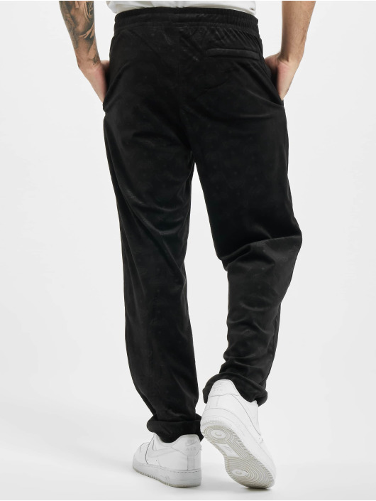 Southpole Sweat Pant Aop Velour black