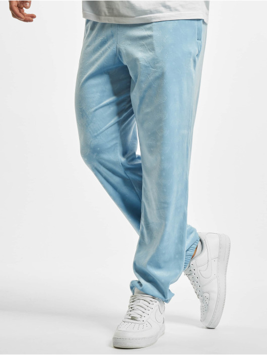 Southpole Sweat Pant Aop Velour blue